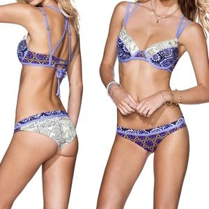 Maaji Two Piece Grape Soda Reversible Bikini M/L